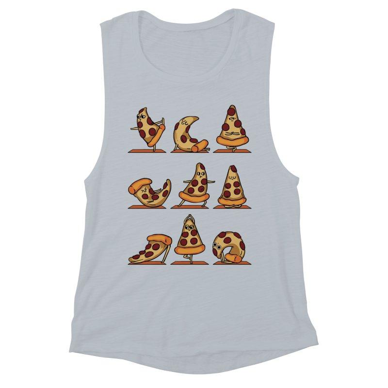 Pizza Yoga Women's Muscle Tank by huebucket's Artist Shop