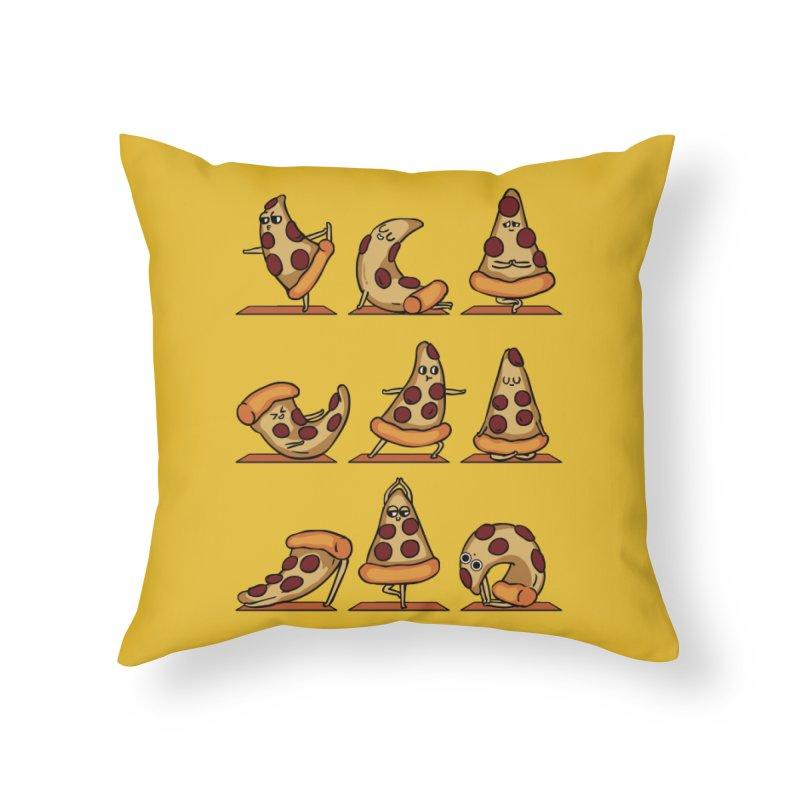 Pizza Yoga Home Throw Pillow by huebucket's Artist Shop