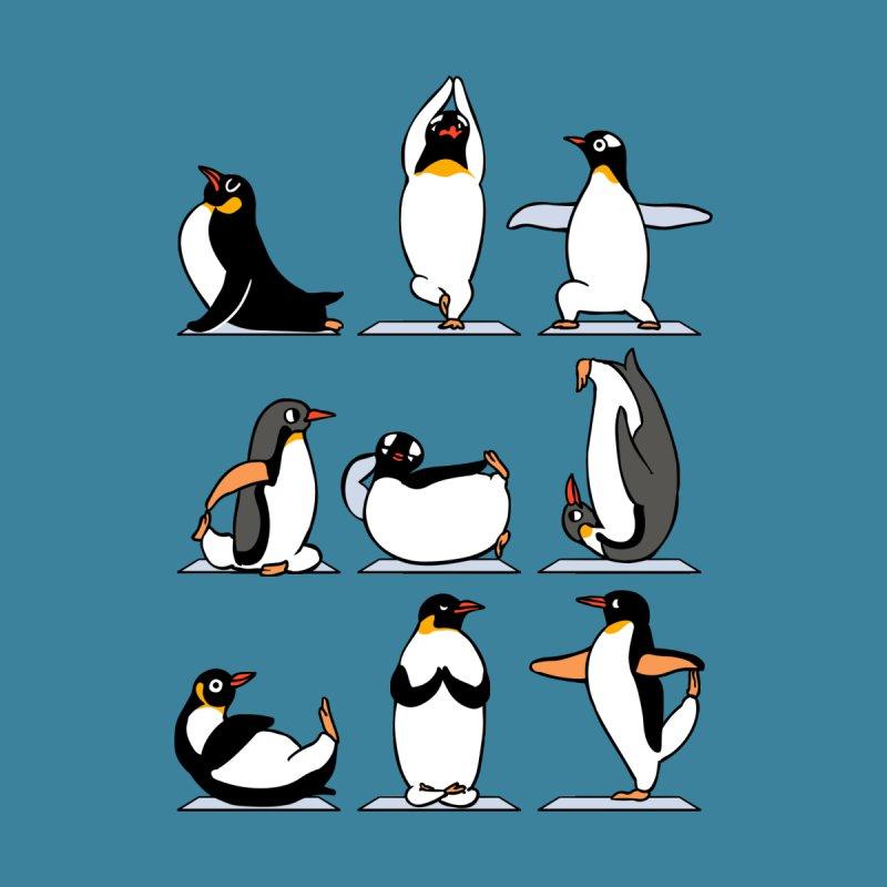 Penguin Yoga Kids Baby Bodysuit by huebucket's Artist Shop