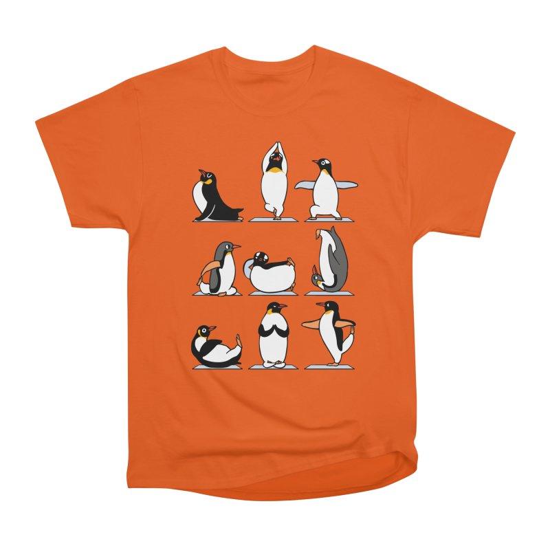 Penguin Yoga Men's Heavyweight T-Shirt by huebucket's Artist Shop
