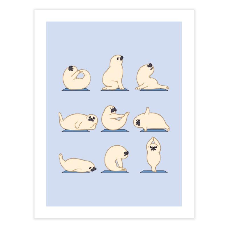 Baby Seal Yoga Home Fine Art Print by huebucket's Artist Shop