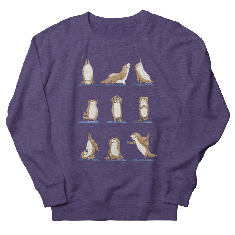 Otter Yoga Watercolor Women's French Terry Sweatshirt by huebucket's Artist Shop