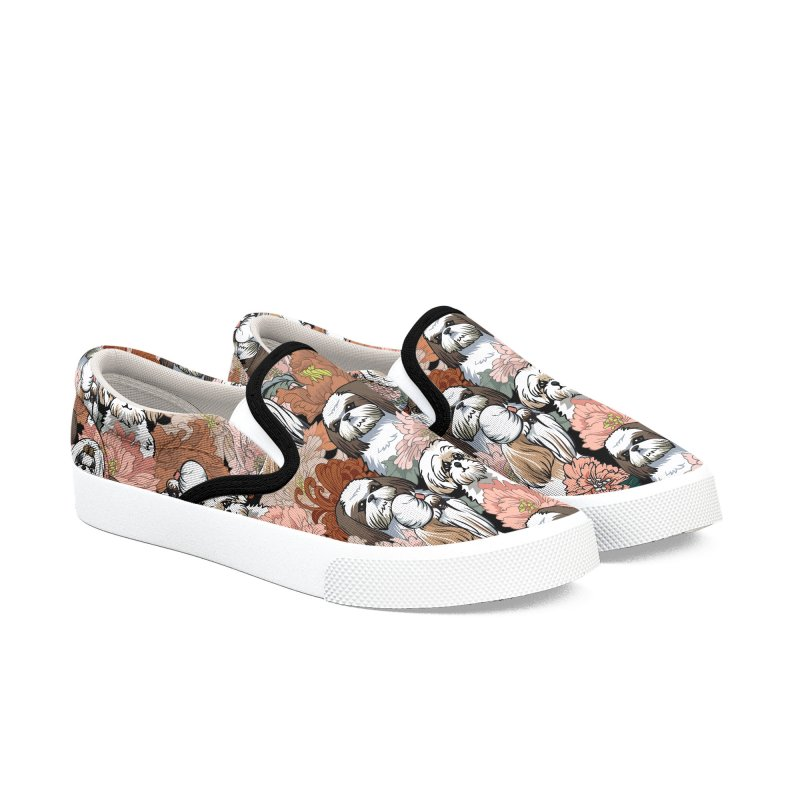 Because Shih Tzu Women's Slip-On Shoes by huebucket's Artist Shop