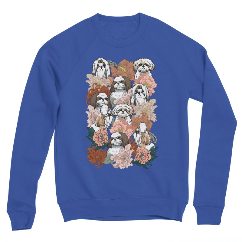 Because Shih Tzu Women's Sponge Fleece Sweatshirt by huebucket's Artist Shop