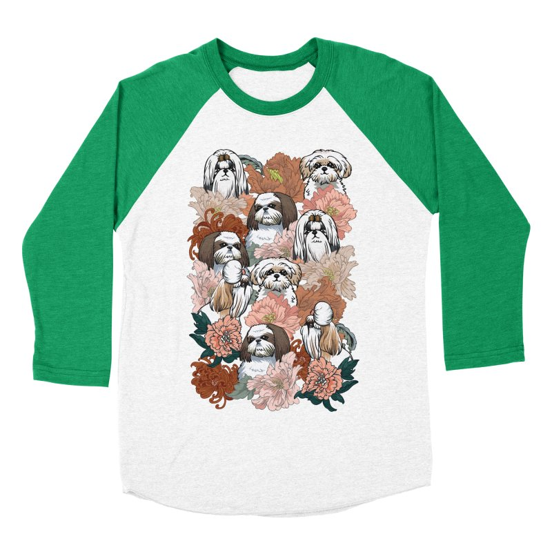 Because Shih Tzu Women's Baseball Triblend Longsleeve T-Shirt by huebucket's Artist Shop