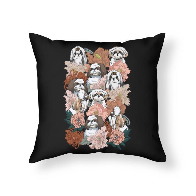 Because Shih Tzu Home Throw Pillow by huebucket's Artist Shop
