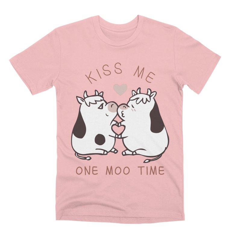 Kiss me one moo time Men's Premium T-Shirt by huebucket's Artist Shop