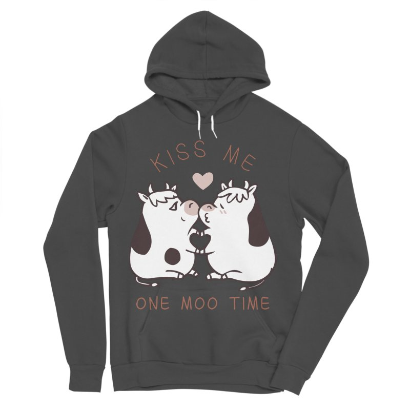 Kiss me one moo time Women's Sponge Fleece Pullover Hoody by huebucket's Artist Shop