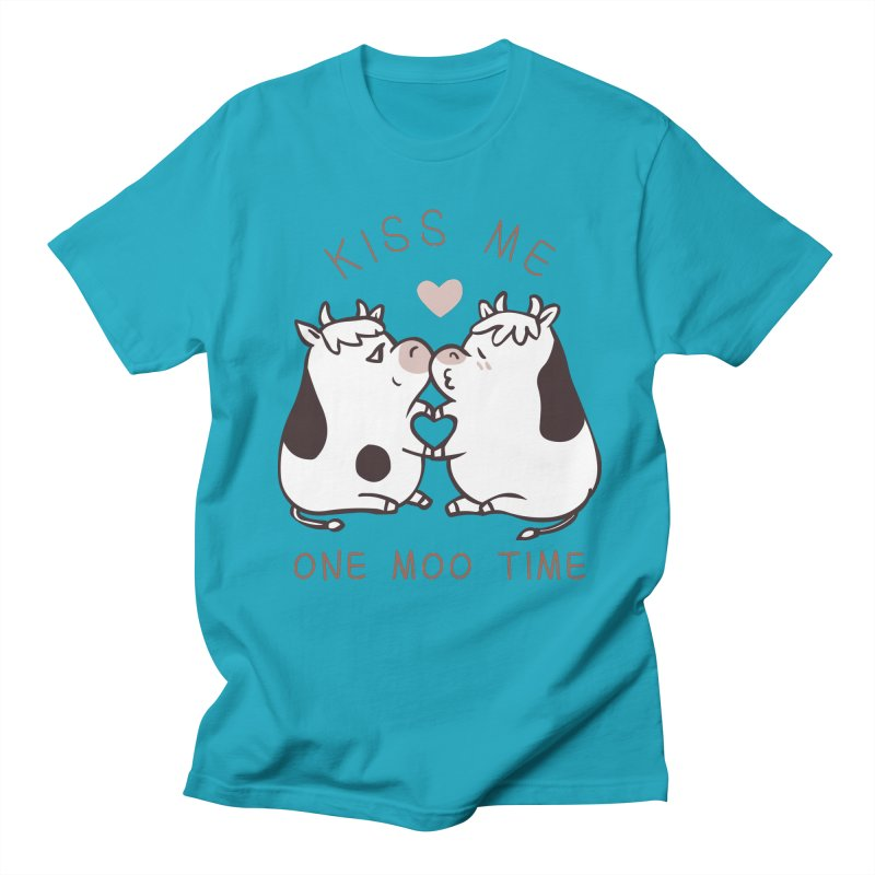 Kiss me one moo time Men's Regular T-Shirt by huebucket's Artist Shop