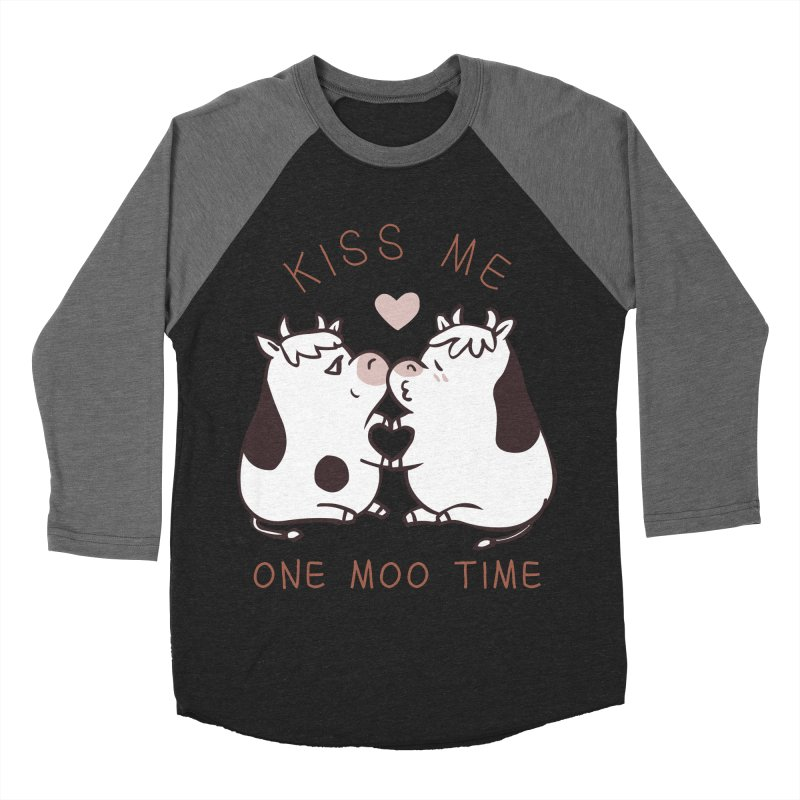 Kiss me one moo time Women's Baseball Triblend Longsleeve T-Shirt by huebucket's Artist Shop