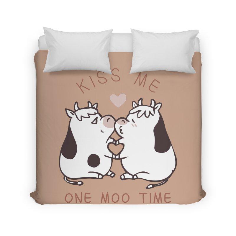 Kiss me one moo time Home Duvet by huebucket's Artist Shop