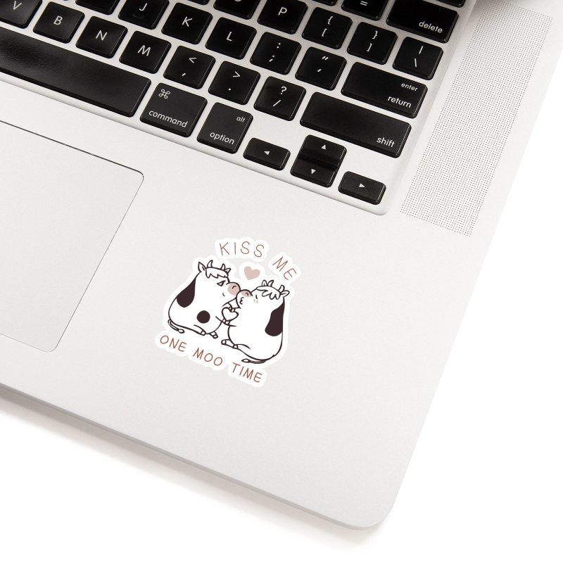 Kiss me one moo time Accessories Sticker by huebucket's Artist Shop
