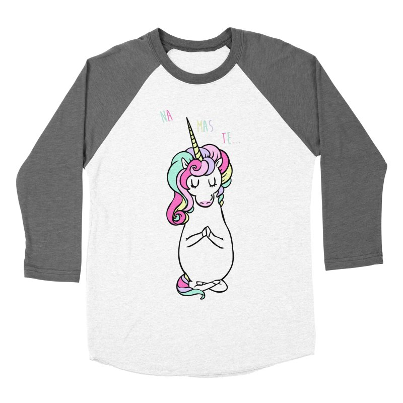 NAMASTE Unicorn Women's Baseball Triblend Longsleeve T-Shirt by huebucket's Artist Shop