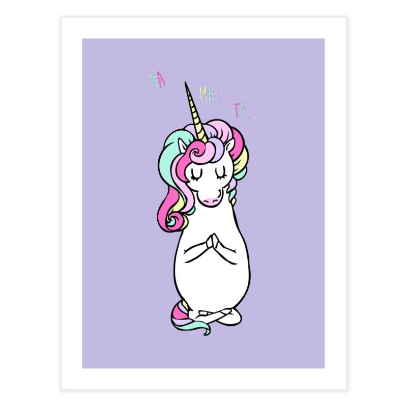 NAMASTE Unicorn Home Fine Art Print by huebucket's Artist Shop
