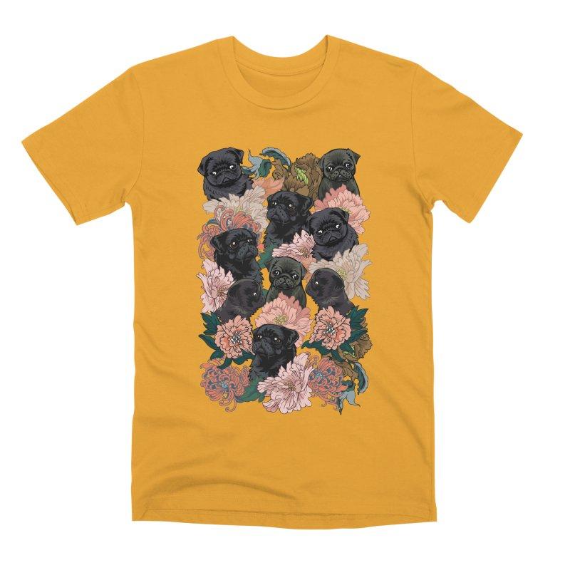 Because Black Pug Men's Premium T-Shirt by huebucket's Artist Shop