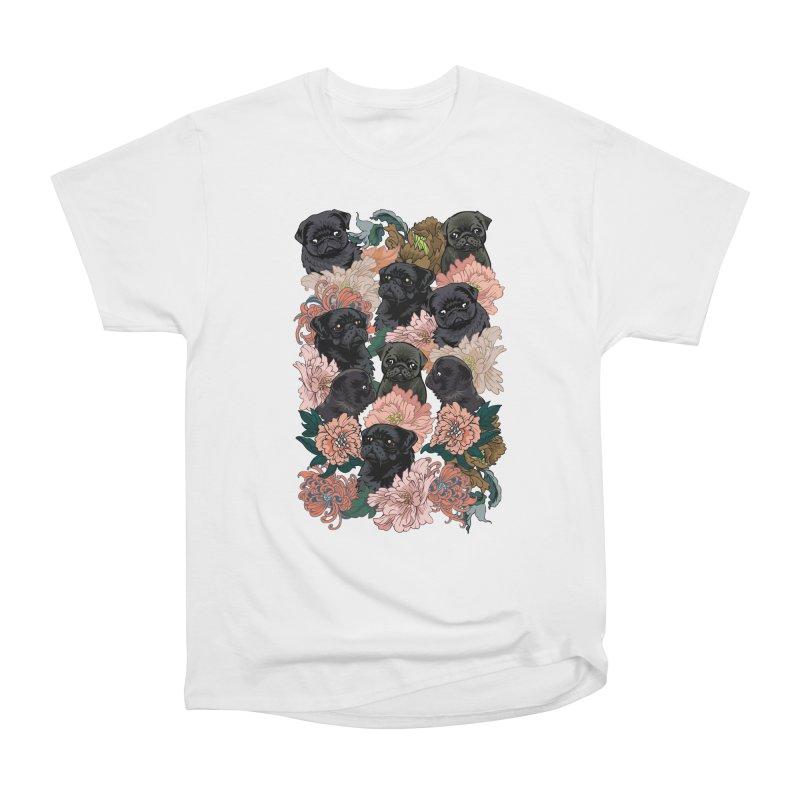 Because Black Pug Men's Heavyweight T-Shirt by huebucket's Artist Shop