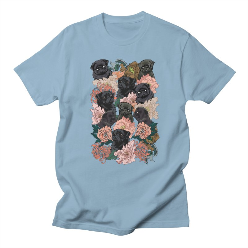 Because Black Pug Men's Regular T-Shirt by huebucket's Artist Shop