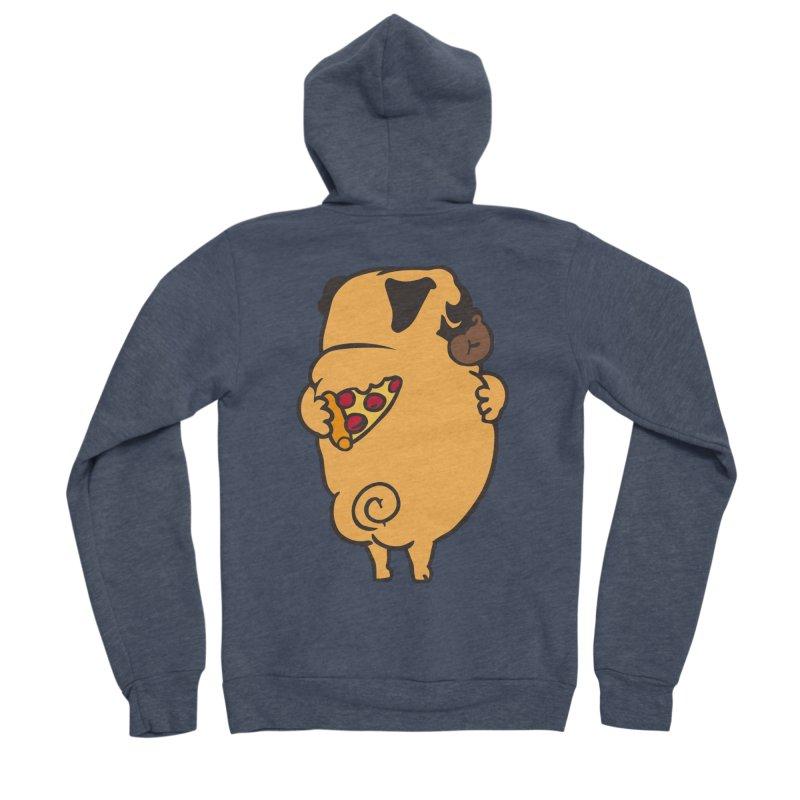 Self Love Pug Women's Sponge Fleece Zip-Up Hoody by huebucket's Artist Shop