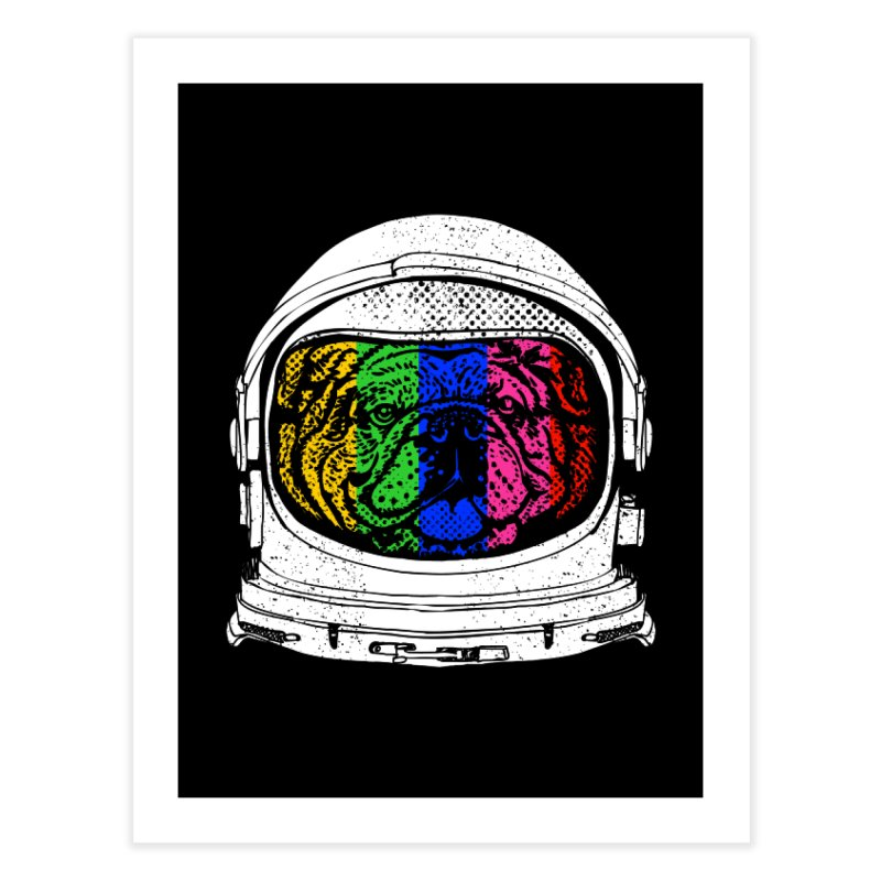 Astronaut English Bulldog Home Fine Art Print by huebucket's Artist Shop