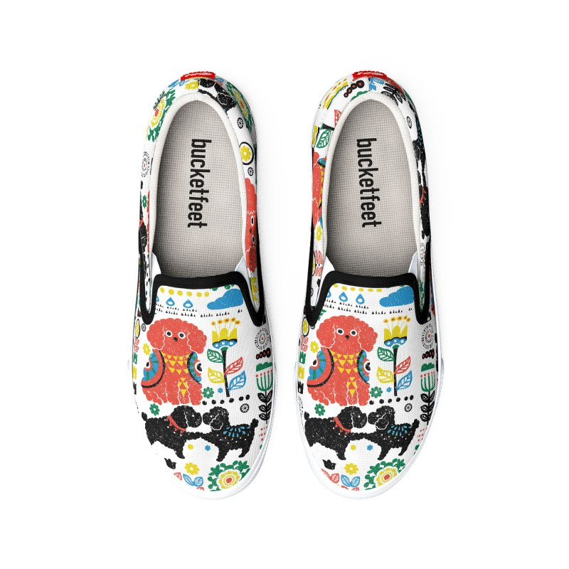 Scandinavian Poodle Men's Shoes by huebucket's Artist Shop