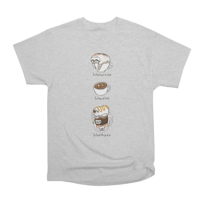 Slow Life Coffee Women's Heavyweight Unisex T-Shirt by huebucket's Artist Shop
