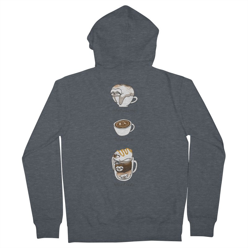 Slow Life Coffee Women's French Terry Zip-Up Hoody by huebucket's Artist Shop