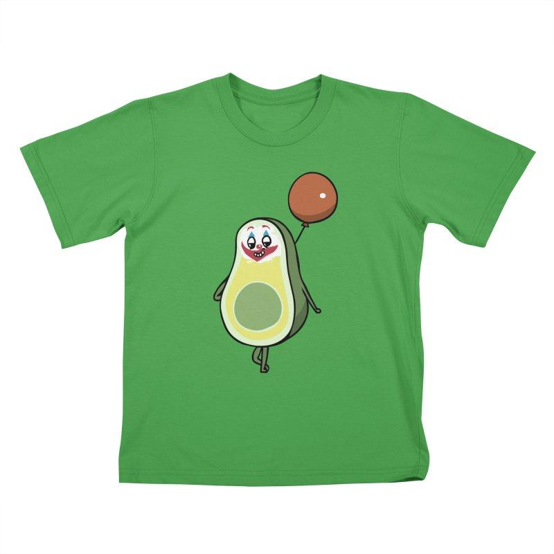 Avocado Villain Kids T-Shirt by huebucket's Artist Shop
