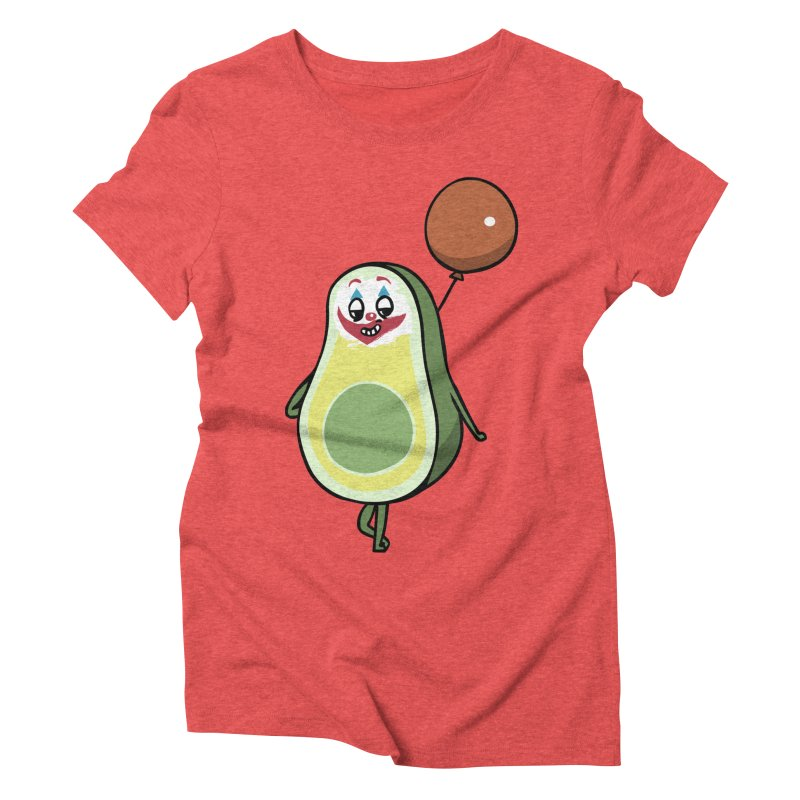 Avocado Villain Women's Triblend T-Shirt by huebucket's Artist Shop