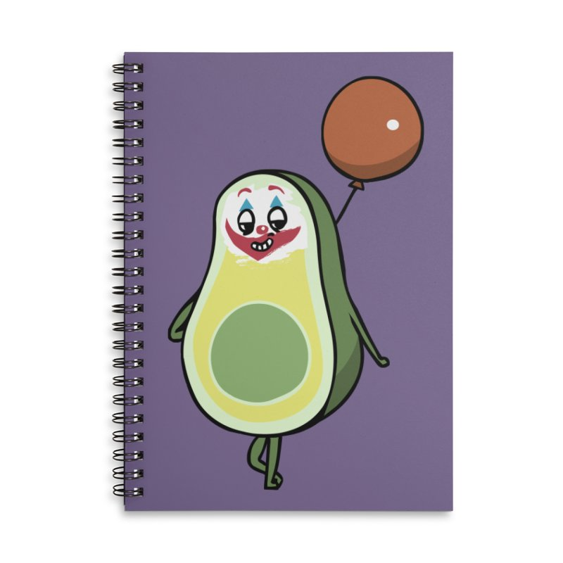 Avocado Villain Accessories Lined Spiral Notebook by huebucket's Artist Shop