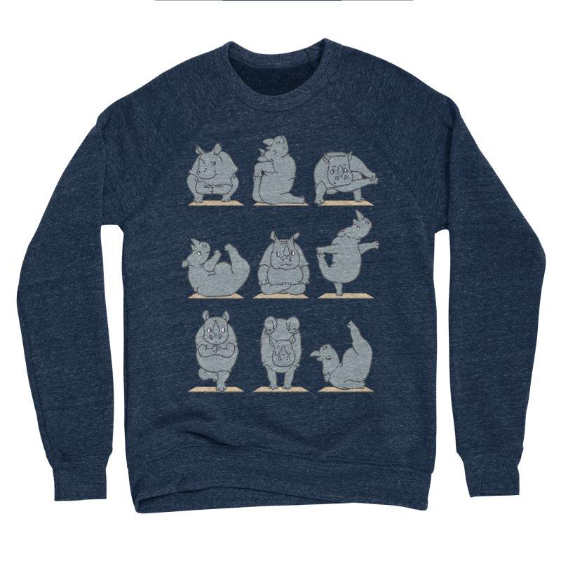 Rhino Yoga Men's Sponge Fleece Sweatshirt by huebucket's Artist Shop