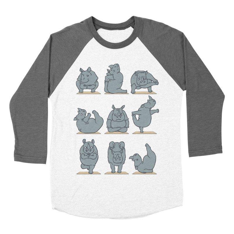 Rhino Yoga Women's Baseball Triblend Longsleeve T-Shirt by huebucket's Artist Shop