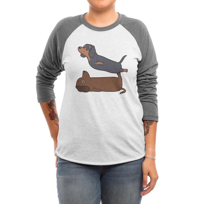 Acroyoga Dachshund Women's Longsleeve T-Shirt by huebucket's Artist Shop