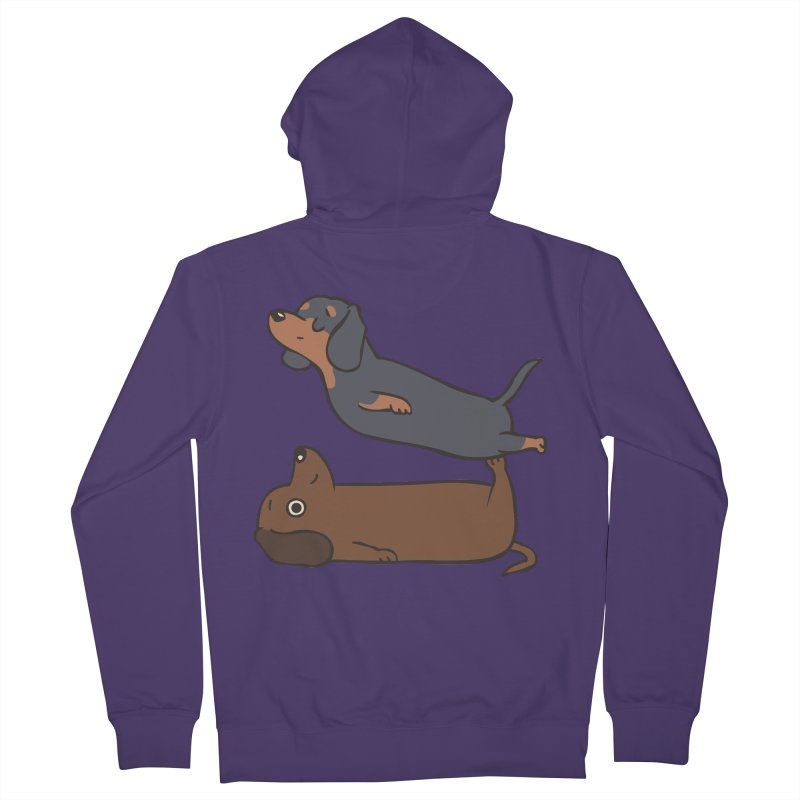 Acroyoga Dachshund Women's French Terry Zip-Up Hoody by huebucket's Artist Shop