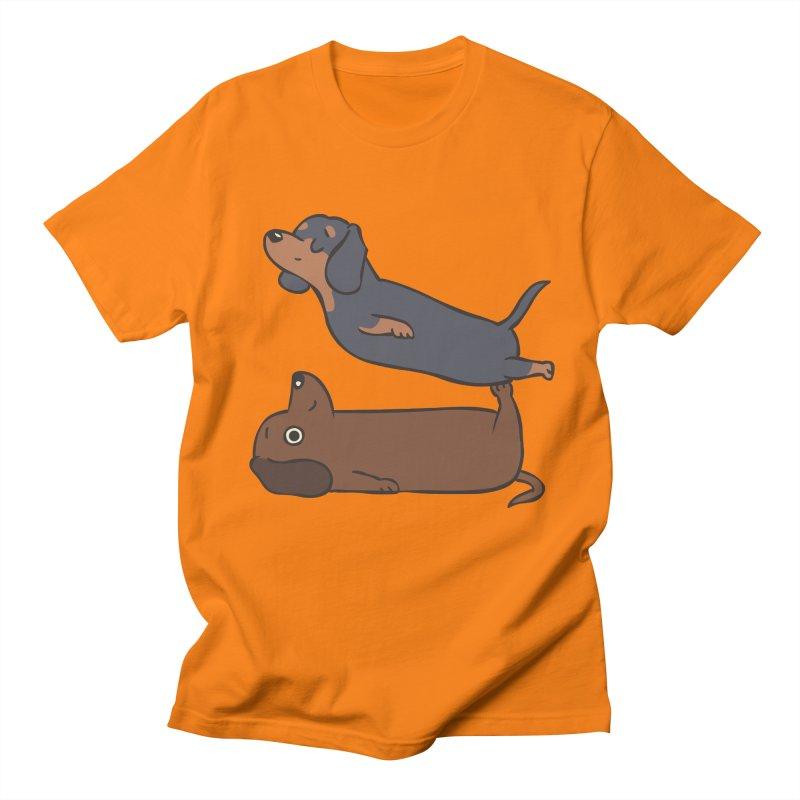 Acroyoga Dachshund Women's Regular Unisex T-Shirt by huebucket's Artist Shop