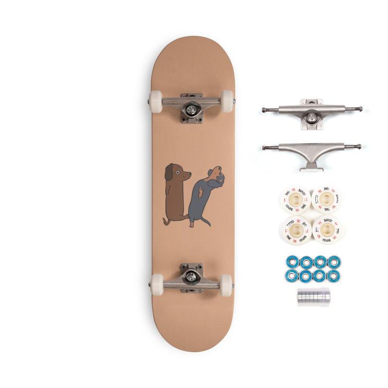Acroyoga Dachshund Accessories Complete - Premium Skateboard by huebucket's Artist Shop