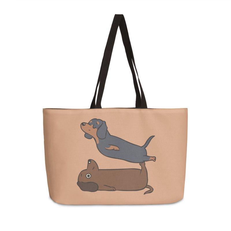 Acroyoga Dachshund Accessories Weekender Bag Bag by huebucket's Artist Shop