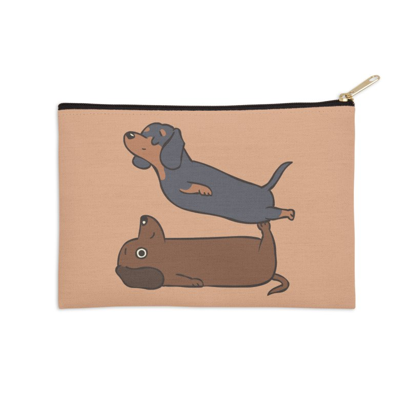 Acroyoga Dachshund Accessories Zip Pouch by huebucket's Artist Shop