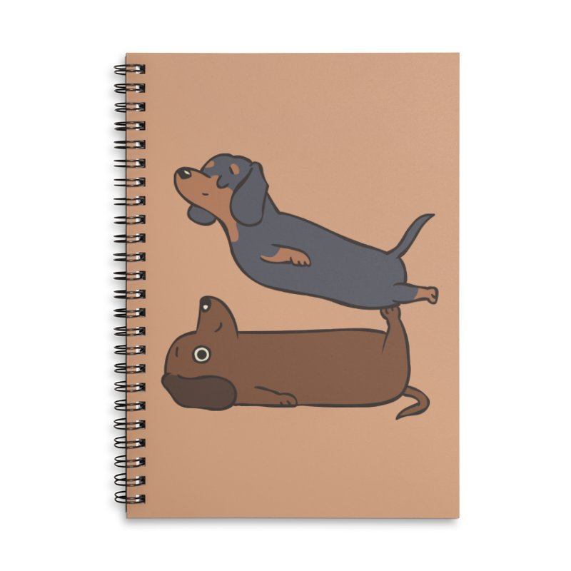 Acroyoga Dachshund Accessories Lined Spiral Notebook by huebucket's Artist Shop
