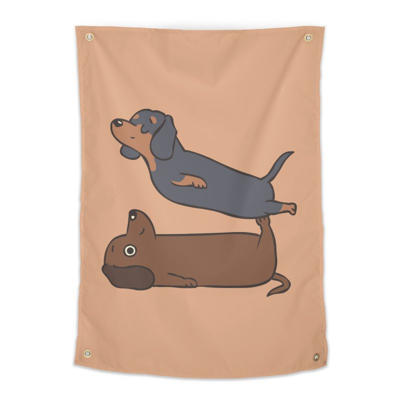 Acroyoga Dachshund Home Tapestry by huebucket's Artist Shop