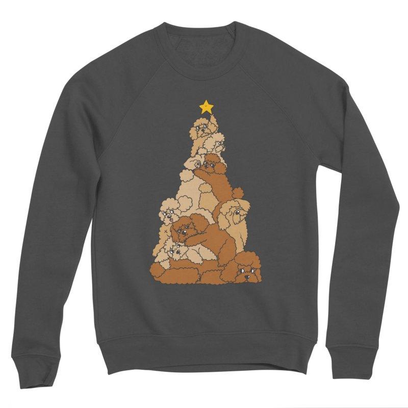 Christmas Tree Poodle Men's Sponge Fleece Sweatshirt by huebucket's Artist Shop