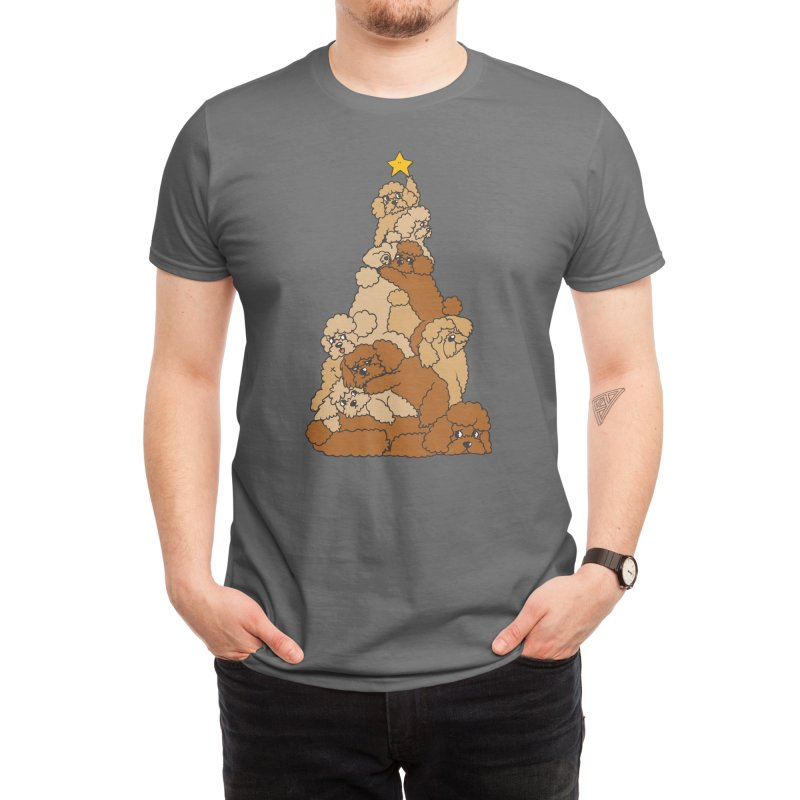 Christmas Tree Poodle Men's T-Shirt by huebucket's Artist Shop