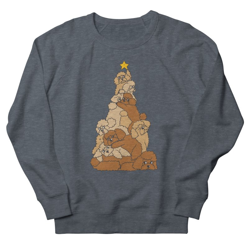 Christmas Tree Poodle Men's French Terry Sweatshirt by huebucket's Artist Shop