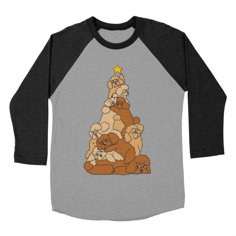 Christmas Tree Poodle Women's Baseball Triblend Longsleeve T-Shirt by huebucket's Artist Shop