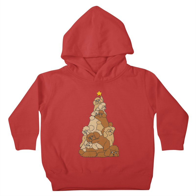 Christmas Tree Poodle Kids Toddler Pullover Hoody by huebucket's Artist Shop