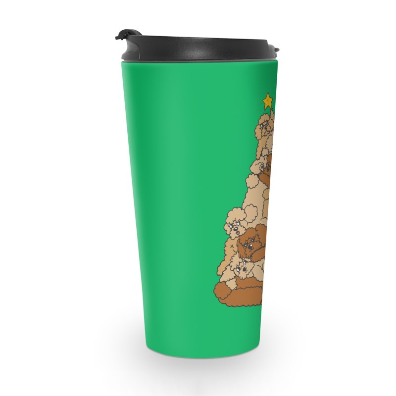 Christmas Tree Poodle Accessories Travel Mug by huebucket's Artist Shop