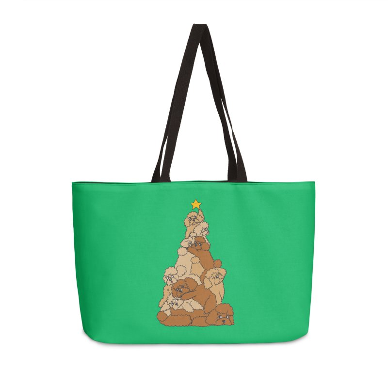 Christmas Tree Poodle Accessories Weekender Bag Bag by huebucket's Artist Shop