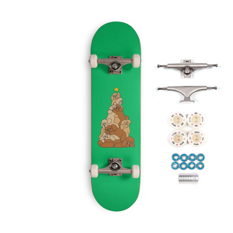 Christmas Tree Poodle Accessories Complete - Premium Skateboard by huebucket's Artist Shop