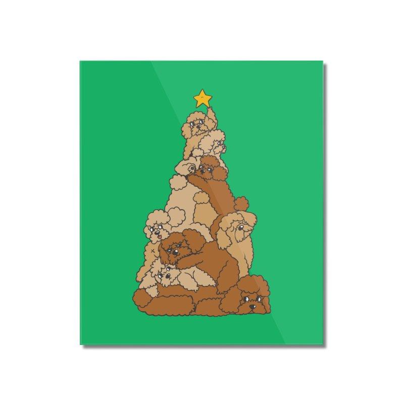 Christmas Tree Poodle Home Mounted Acrylic Print by huebucket's Artist Shop