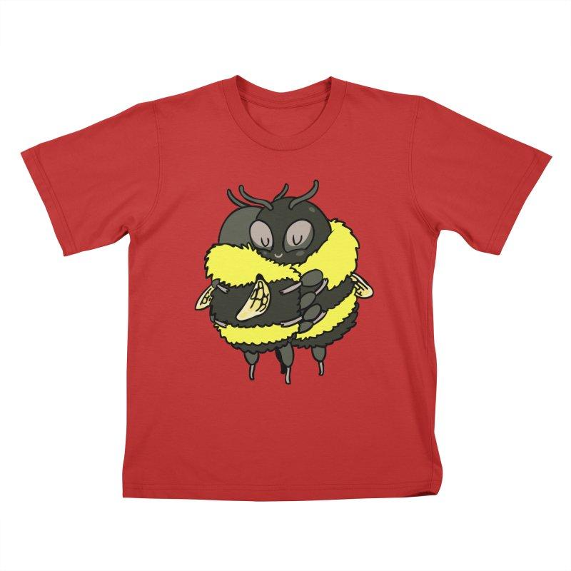Bee hugs Kids T-Shirt by huebucket's Artist Shop