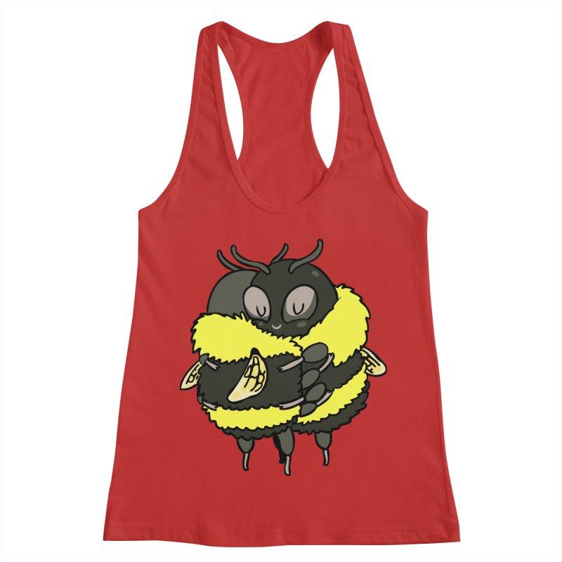 Bee hugs Women's Racerback Tank by huebucket's Artist Shop